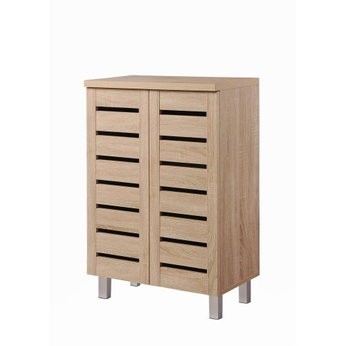 Essentials 4 Tier Storage Cabinet Cupboard Bedroom Hallway Shelf Unit Sonoma Oak