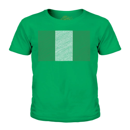 Candymix - Nigeria Scribble Flag - Unisex Kid's T-Shirt