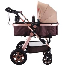 2 in1 Portable Foldable Baby Stroller Adjustable High View Pram Travel System