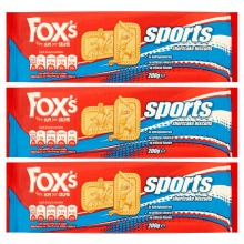 3pk Fox's Sports Shortcake Biscuits - 3 x 200g Packs