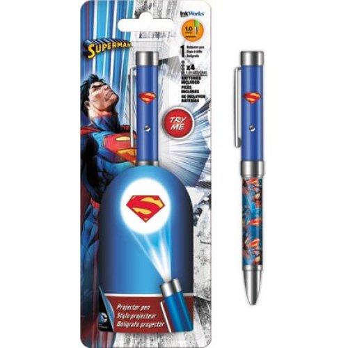 Projector Pen - DC Comics - Superman Flashlight 1.0mm Ballpoint iw4004