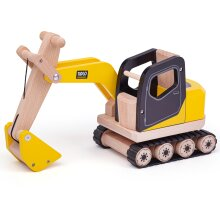 Tidlo Wooden Digger - Construction Vehicles