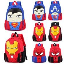 Kids Superhero Backpack Spiderman Superman School Book Bag Rucksack