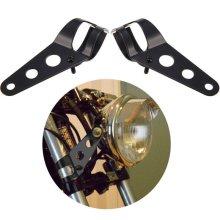2pcs Motorcycle Headlight Bracket Mount Bracket For Cafe Racer Rack