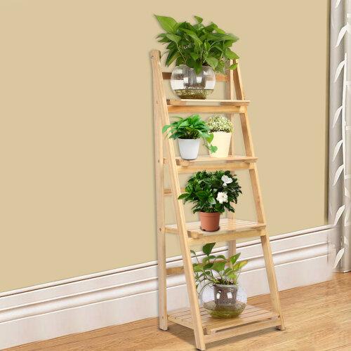 4 Tier Ladder Shelf Plant Flower Storage Rack Display