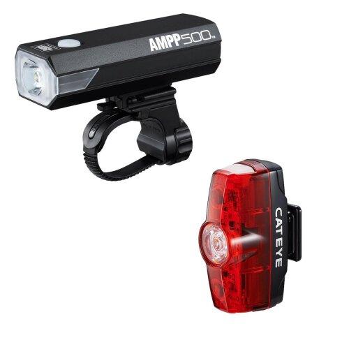Cateye Ampp 500 & Rapid Mini Front & Rear Light Set