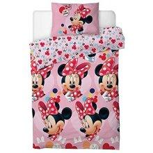 "Disney Minnie Mouse""I Love"" Single Duvet Cover Set"