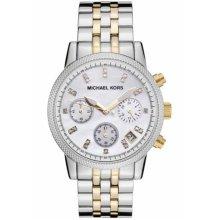 Michael Kors Ladies Watch MK5057 Three Tone Colour Silver Gold White