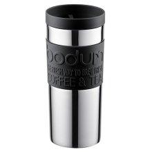 Bodum Vacuum Travel Mug, Stainless Steel, Small, 0.35 l, 12 oz (Black)