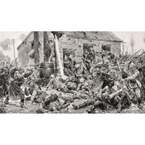 Coldstream Guards Action At Landrecies August 24 1914 From The War Illustrated Poster Print, Large - 38 x 22