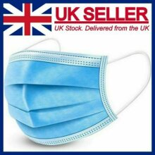 Disposable Face Mask 3 PLY Disposable Face Mask (50Pcs) Ships from UK