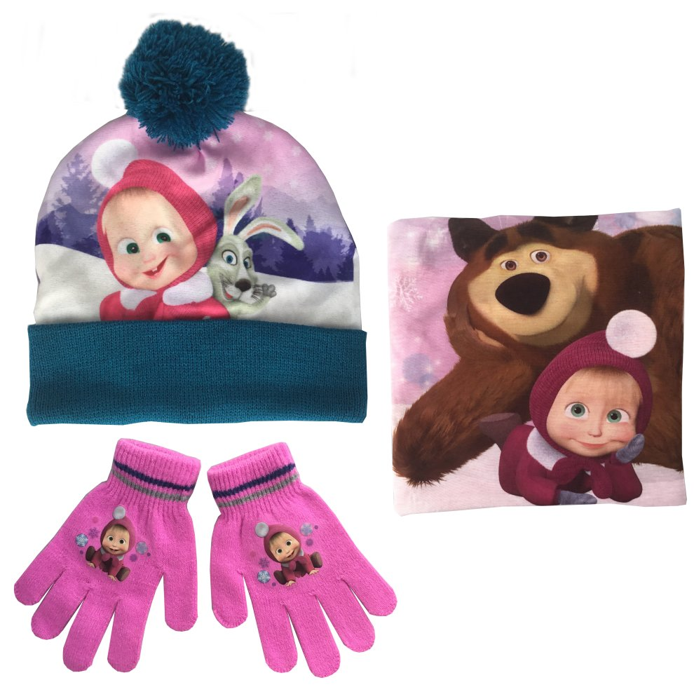 Snood /& Gloves Set by Jujak Masha and the Bear Hat