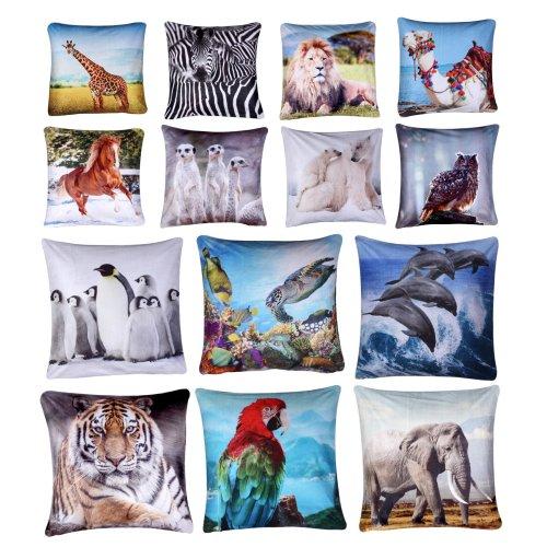 Plush Velvet Animal Theme Cushion Cover 45cm x 45cm