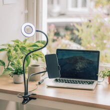 Selfie Ring Light with Adjustable Stand, 3 Levels & Phone Holder