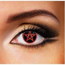 Red Pentagram Contact Lenses (Pair) - Halloween Contact Lenses
