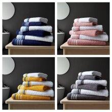 100% Cotton Hand Bath Sheet Towel Set Soft Bale Set 6 PC