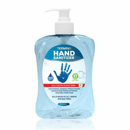 Termin8 Hand Sanitizer 500ml, pk 1, pk 2 & pk 4
