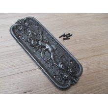 Antique Iron Cherub Finger Plate