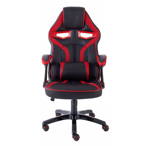 (Red & Black) PU Leather Sport Racing Car Gaming Office Chair