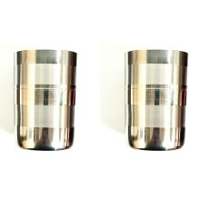 2 PCS STAINLESS STEEL SMALL AMRAPALI GLASS HOT TEA COFFEE CUP WATER DRINKING MUG