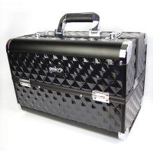 Professional Designer Vanity Case Beauty Storage Make up Box Heavy Duty Black