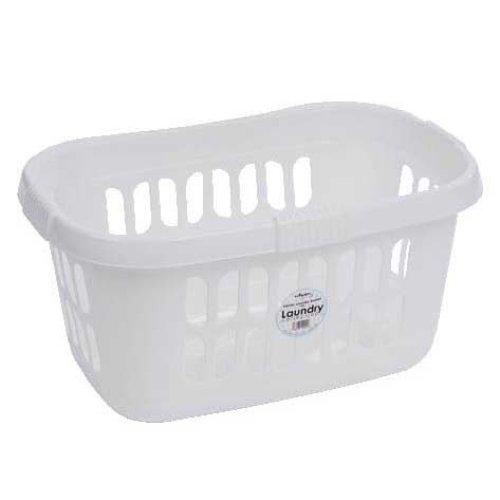 (White) Wham Hipster Laundry Basket Modern High Grade Plastic Linen Washing Carrier