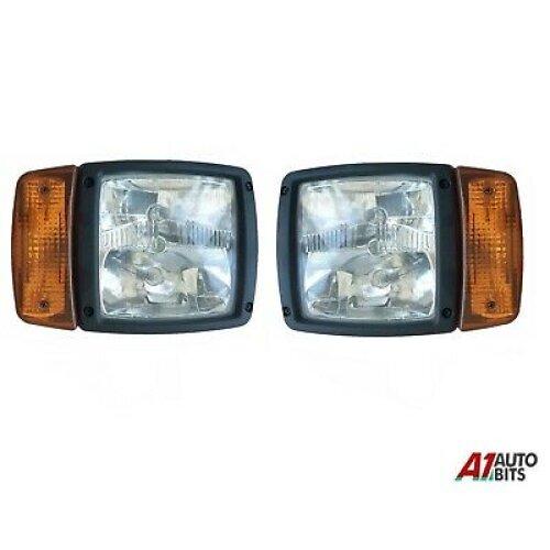 Lh +Rh Jcb Telehandler Loader Loadall Head Lights Lamps Headlamps Indicator