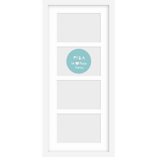 "20x8.5""/4 6x4"" Multi Oxford White Photo Frame with Soft Cream Mount"