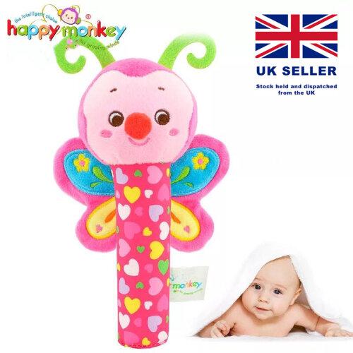 Baby Rattle Grab Stick Animal Handbell Ringing Toys Infant Newborns Cute Cartoon Toys  0-12 Months