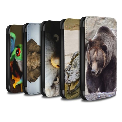 Wildlife Animals Apple iPhone X/10 Phone Case Wallet Flip Faux PU Leather Cover for Apple iPhone X/10