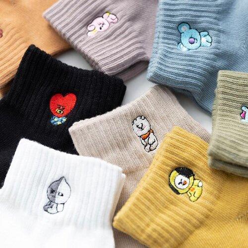 Cartoon, Animal Print Kawaii Cute Funny Korean Style Women Socks