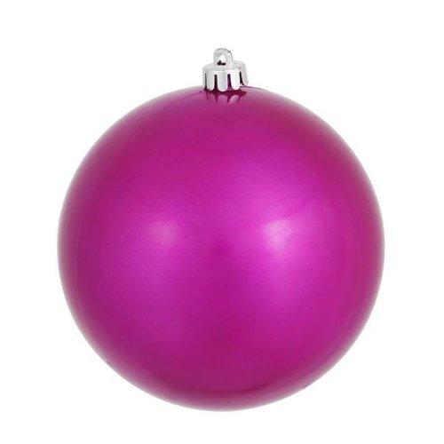 Magenta Candy Finish Ball Ornament - 6 in.
