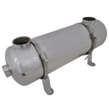 vidaXL Pool Heat Exchanger 485x134mm 60 kW Spa Sauna Boiler Heater Machine