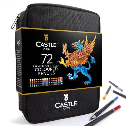 Castle Arts 72 Piece Coloured Pencils Zip Up Case Set