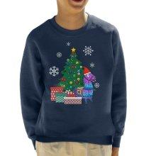 Fortnite Loot Llama Around The Christmas Tree Kid's Sweatshirt