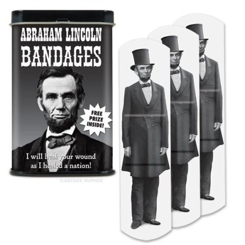 Character Goods - Archie McPhee - Bandage - Lincoln w/Tin 12302