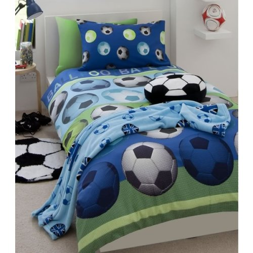 Catherine Lansfield Kids Football Double Duvet Set Blue