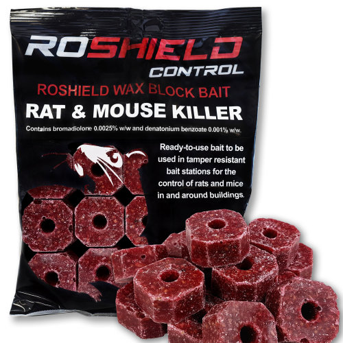 (300g) Roshield Block Bait for Rat & Mouse Poison Control