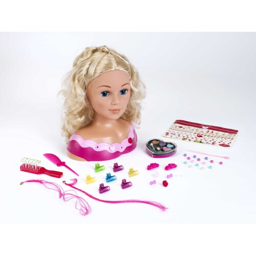 Theo Klein Princess Coralie Emma Hairstyling Head and Cosmetics Case and Styling Accessories For Ages 3+ and Above