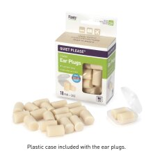 Flents Ear Plugs, 10 Pair with Case, Ear Plugs for Sleeping, Snoring, Loud Noise, Traveling, Concerts, Construction, & Studying, Contour to Ears, NRR