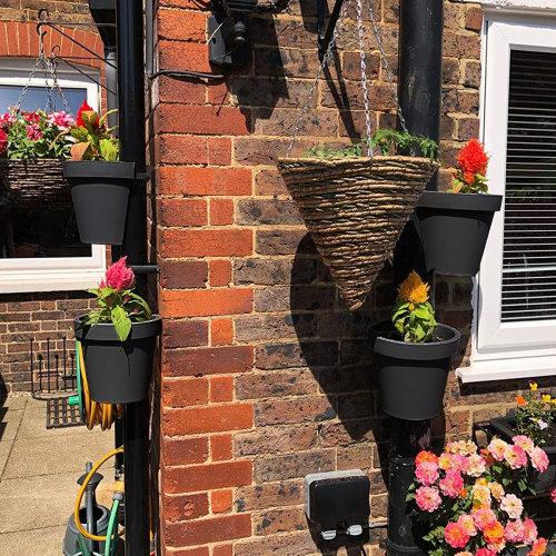 (4 x Pipe Flower Pot) Drain Pipe Flower Pot
