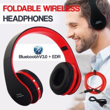 Wireless Bluetooth Headphones Noise Cancelling Over With Microphone