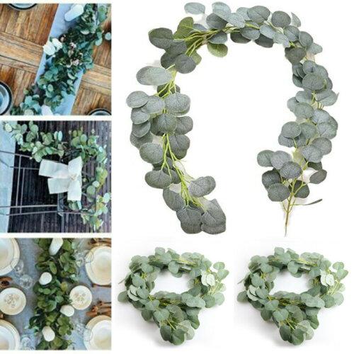 2M Artificial Fake Eucalyptus Garland Leaf Plants Greenery Foliage Home Decors