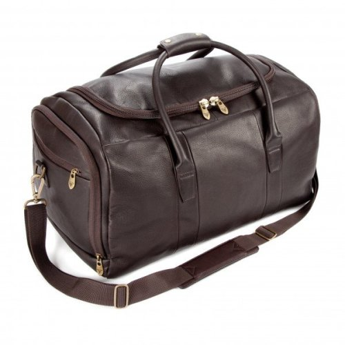 Falcon Colombian Leather Holdall - FI6708 Brown