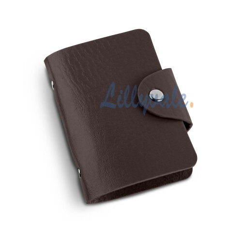PU Leather Credit ID Business Card Holder- Brown