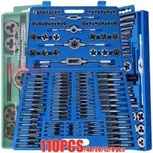 110pcs/set M2-M18 Screw Nut Thread Taps Dies