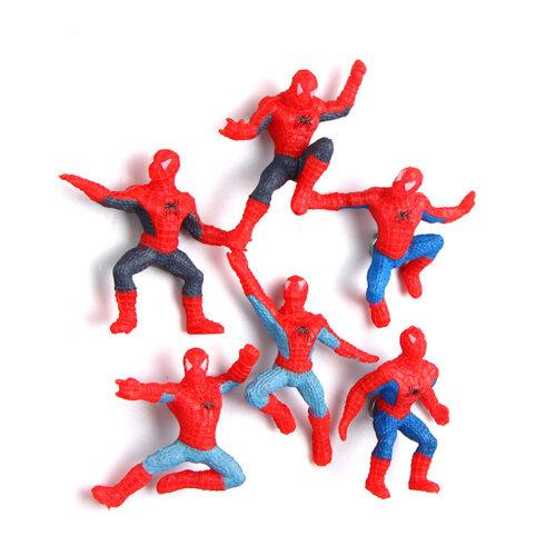 6pcs  Superhero Spiderman 3D Magnetic Refrigerator Fridge Magnets