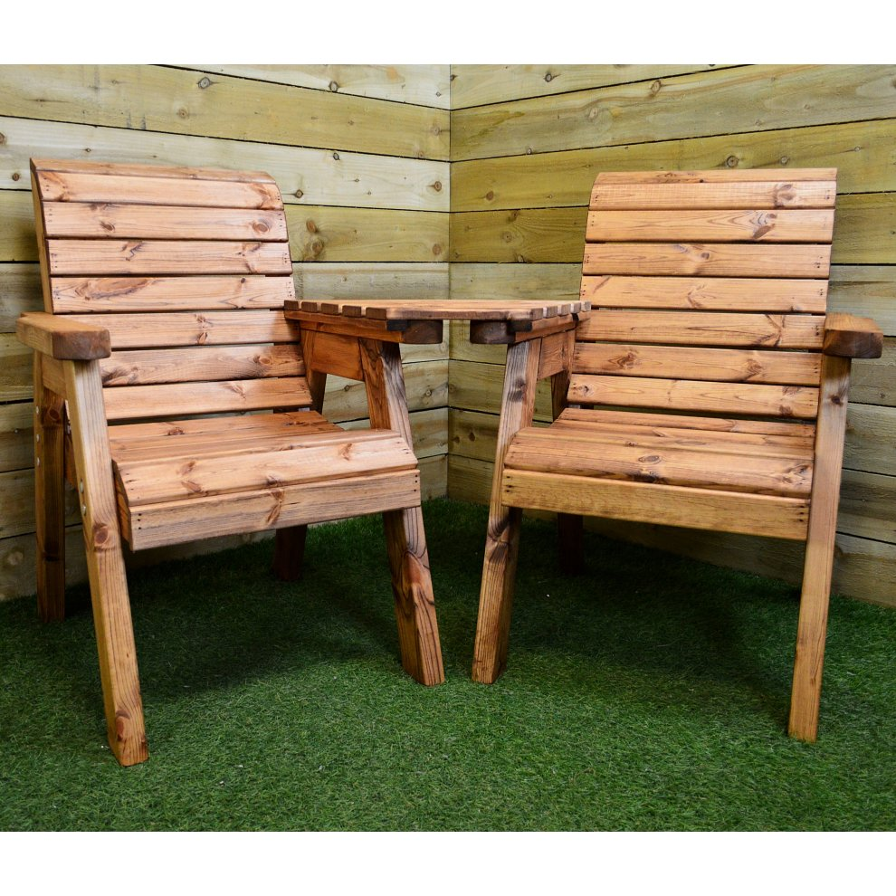 Hand Made 2 Seater Chunky Rustic Wooden Garden Furniture ...