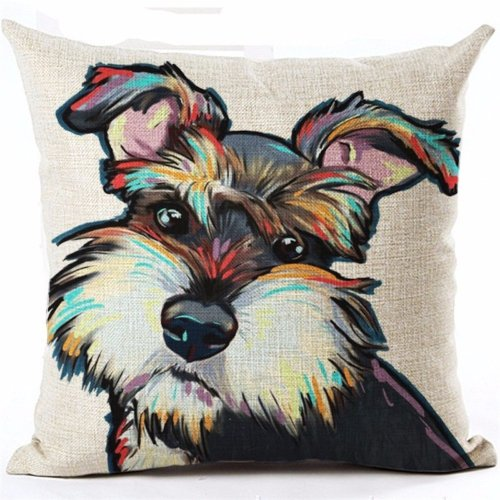 Adorable Puppy Dog Throw Pillow Covers