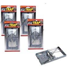 4 X METAL RAT TRAPS CLASSIC-SNAP-RAT/MOUSE TRAPS - REUSABLE RAT TRAPS
